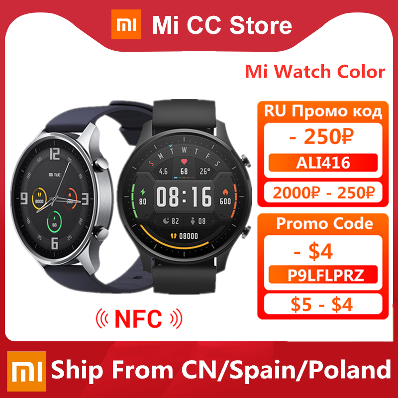 Original Xiaomi Smart Watch Color NFC 1.39\'\' AMOLED GPS Fitness Tracker 5ATM Waterproof Sport Heart Rate Monitor Mi Watch Color-0