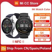 Original Xiaomi Smart Watch Color NFC 1.39\'\' AMOLED GPS Fitness Tracker 5ATM Waterproof Sport Heart Rate Monitor Mi Watch Color