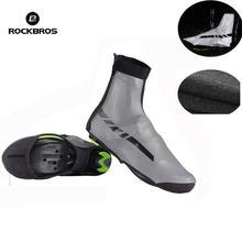 ROCKBROS Waterproof Motorcycle Boots Shoe Covers Reflective Thermal Elastic Windproof Botas Moto Rain Overshoes Sneaker Shoes