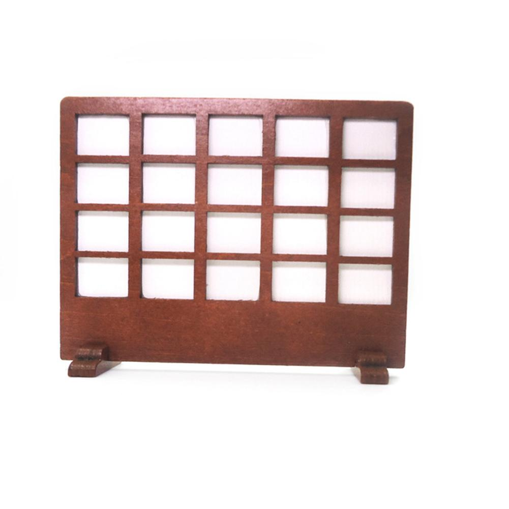 Chinese Style 1/12 Wooden Screen Guard Window <font><b>Furniture</b></font> <font><b>Miniature</b></font> Doll House Toy image