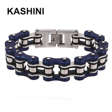 316L Stainless Steel Bracelet Best Selling Punk Bracelets Bicycle Chain 16mm Largeu Moto Mens Gift Wholesale