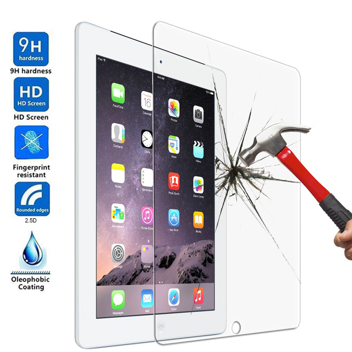 Tempered Glass For Apple IPad 10.2 7th Generation A2197 A2200 A2198 A2232 10.2 Tablet Screen Protector Toughened Protective Film