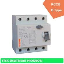 цена на RCCB EKL1-63 2P B type 230/400V~ 50HZ/60HZ Residual current circuit breaker  16A  25A 32A 40A 50A 63A 80A