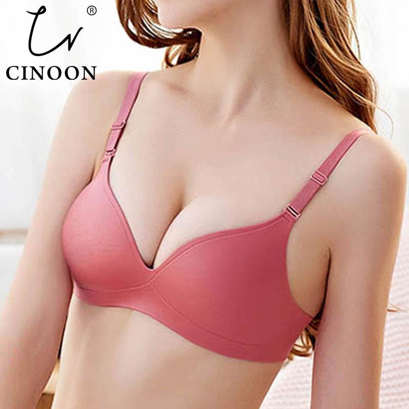 CINOON New Sexy Gather Bras For Women Push Up Lingerie Seamless Bra Bralette Wireless Brassiere Female Underwear Intimates