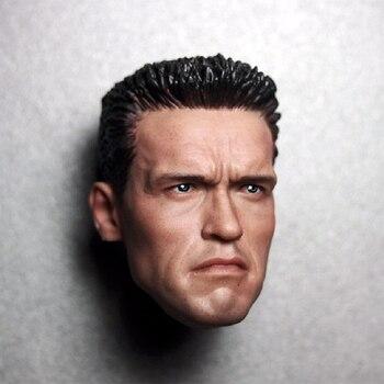 1/6 scale Arnold Schwarzenegger head sculpt head carving model Terminator 2 T800 12