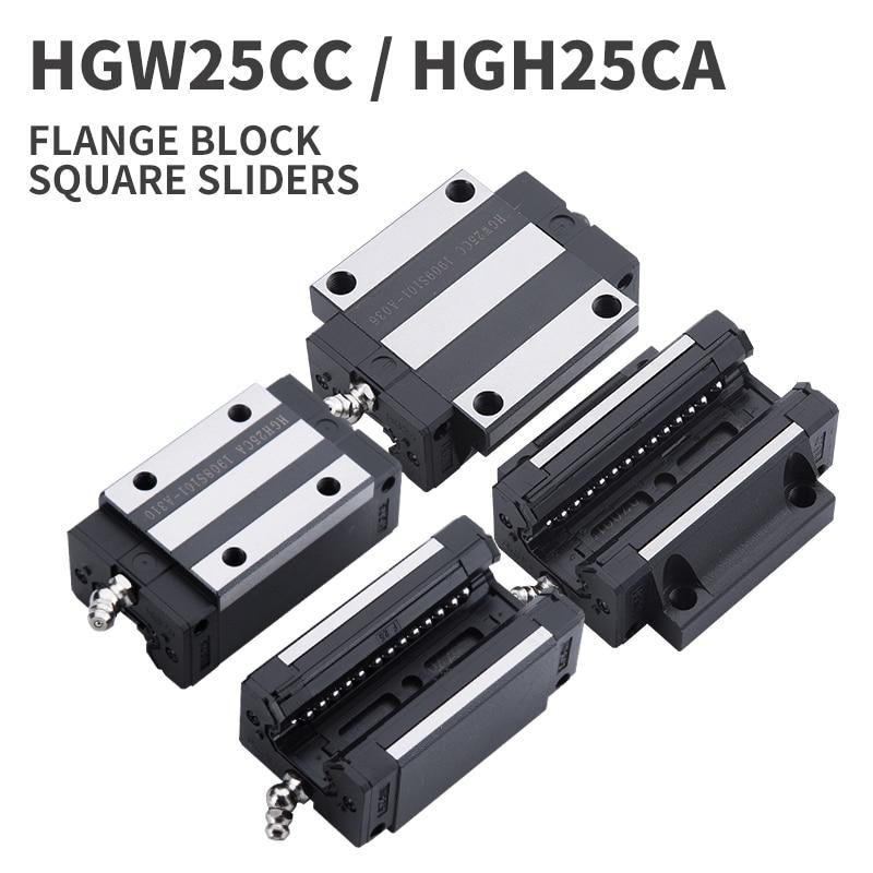 1 шт. HGH25CA HGW25CC слайдер блок матч использование 25 мм HIWIN HGR25 линейная направляющая HGH25 CA направляющая для ЧПУ diy частей