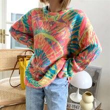 Женский трикотажный пуловер с круглым вырезом swirl вязаный
