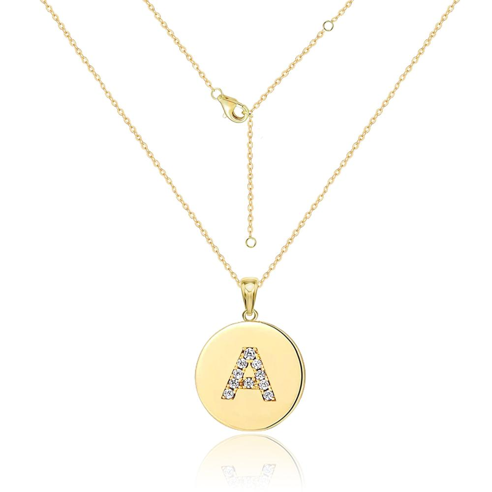 Initial Necklaces for Women Gold Letter Pendant Necklace Goth Chain Choker Collares A-Z Alphabet Crystal Necklace Jewelry Gifts
