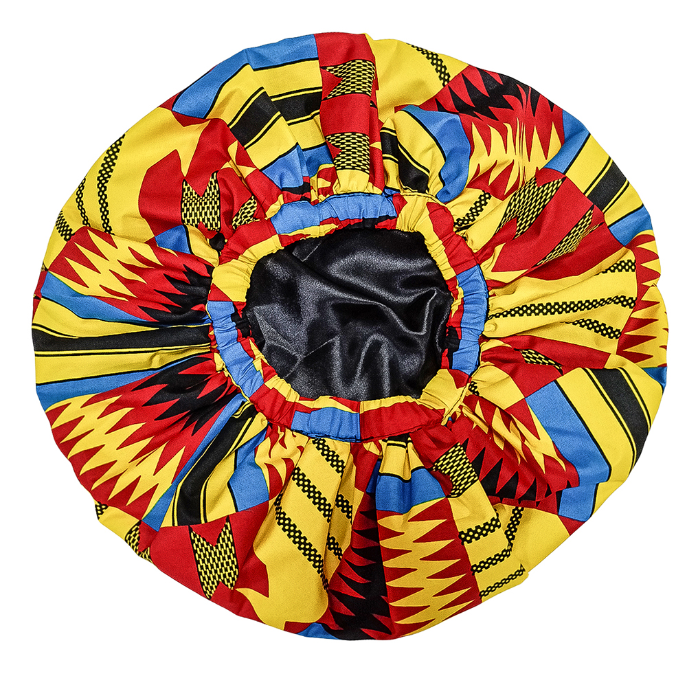 African Bonnet For Women Fashion Print Wax Ankara Bonnet Line Hair Reversible Satin Bonnet Print Sleep Bonnet