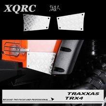 XQRC Shell falda placa de deslizamiento lateral trasero placa de deslizamiento cuerpo placa de metal para 1 / 10 RC Vehículo de orugas traxxas trx-4 TRX 4 defensor