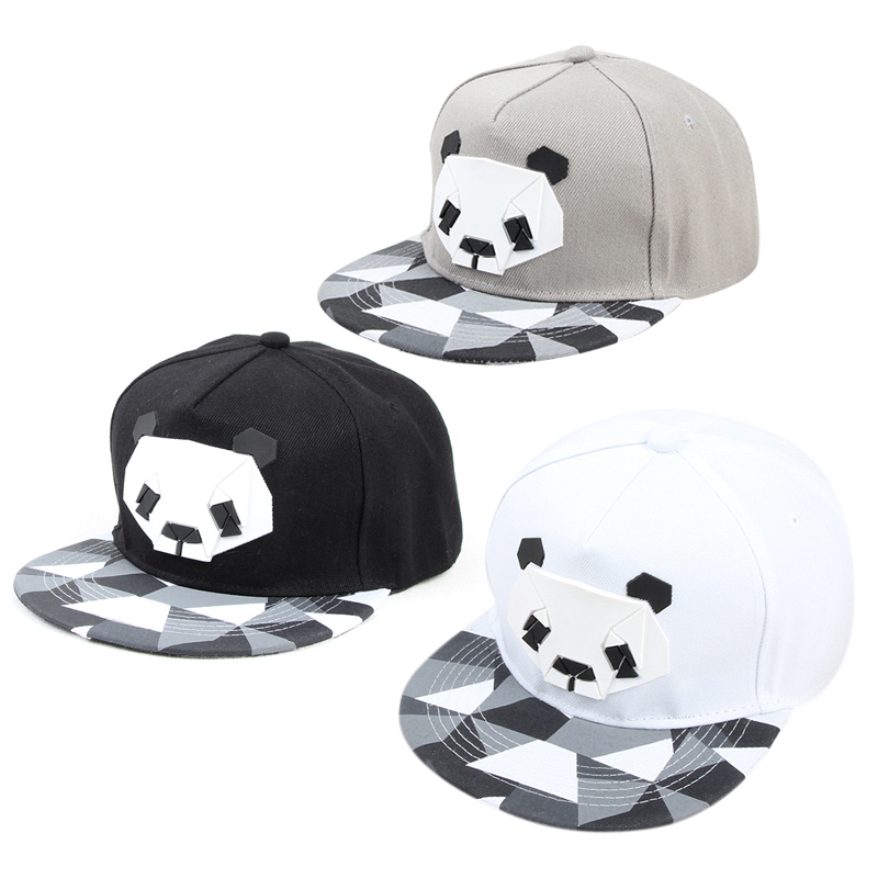 3D Panda Pattern Baseball Cap Fashion Hip-hop Hat Cute Panda Zebra Rubber Hats Women Men Flat-brimmed Hat Outdoor Sports Cap