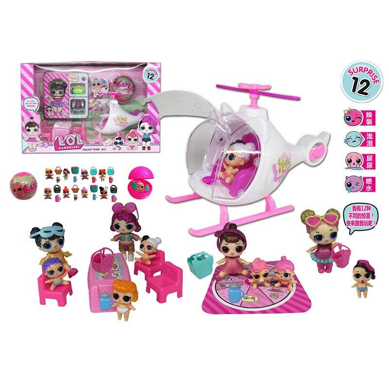 LoL Surprise Dolls Airplane Picnic Ice Cream Car Slide Handbag Villa Action Figure Lol Figura Dolls Toys Set Girls Birthday Gift