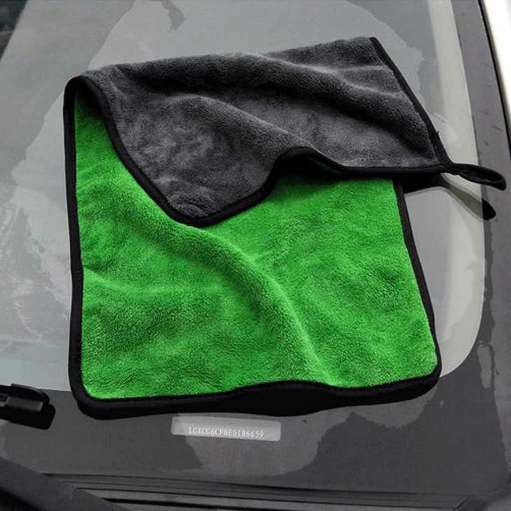 30*30/60CM Khăn Rửa Xe Ô Tô Microfiber Siêu Sạch Sấy Vải Hemming Chăm Sóc Xe Vải Họa Tiết Ô Tô khăn Rửa Dành Cho Xe Toyota #40