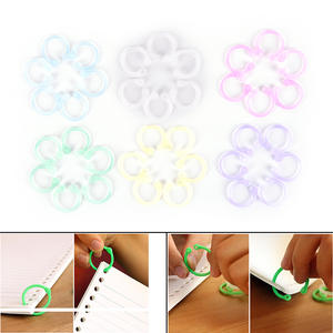 12Pcs Easy Ring Paper Book Loose Leaf Binder Keychain Key Stationery Accessory