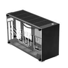 A4 itx k55 i5 i7 liga de alumínio pequeno computador anfitrião caso compatível com rtx 2080 ti placa gráfica jogo computador chassi-preto