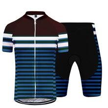 2020 Women's Cycling Jersey Set Fashion Hip Hop Harajuku Stripe Comfortable Breathable Bicycle Clothing Short Sleeve Shorts Set