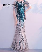 Rubilove Dress female 2019 new banquet noble and elegant temperament fishtail slim slimming ladies sequin party dress