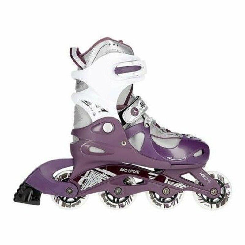 Модные фиолетовые скейтборды для скейтбординга, скейтборд для детей, размер S (30 33 ярдов), однорядные коньки