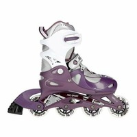 Fashionable Purple Skate Skateboarding Shoes Skateboard Children Size S (30 33 Yards) Single Row Skates