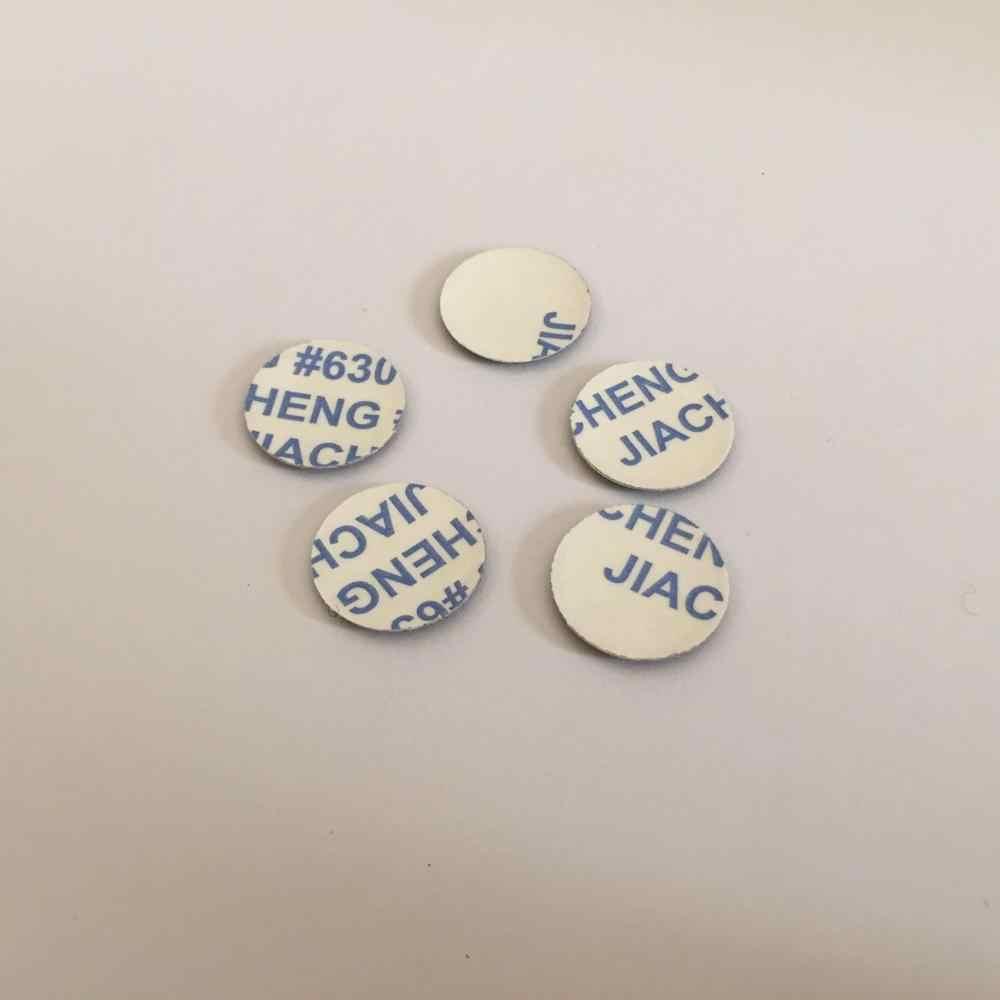 5 pièces 14mm voiture télécommande porte-clés emblème Badge Radio bouton autocollant pour opel Citroen ford Renault Suzuki Peugeot Fiat toyota MINI