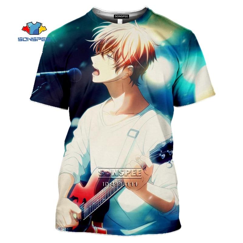 SONSPEE BL Anime Given Sato Mafuyu T Shirt Men 3D Print T-shirts Women Summer T-shirt Casual Short Sleeve Hip Hop Tops Drop Ship