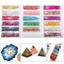 1Set di pietre di vetro rotte riempitivo epossidico fai-da-te gioielli per Nail Art che fanno riempimenti di stampi cheap QrhYK CN (Origine) Mold Fillings