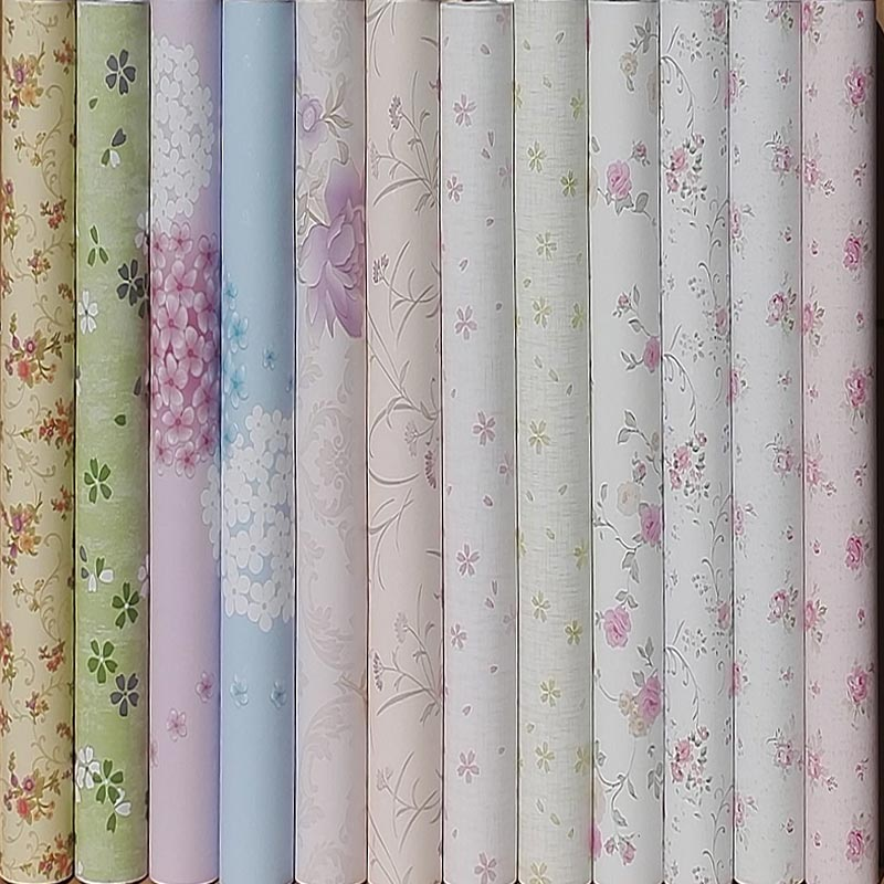 10m*45cm PVC Wallpaper Self-adhesive Waterproof Rural Small Flowers Student Dormitory Wallpaper House Renovation Baby Bedroom