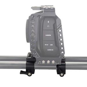 Image 4 - Piastra di montaggio per treppiede con piastra di montaggio a sgancio rapido per fotocamera con morsetto per asta da 15mm per supporto asta DSLR Rig per fotocamera