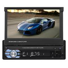 7inch Car Stereo Audio Radio GPS Navigation Retractable Touch Screen Autoradio with BT DVD MP5 SD FM USB Player Rear View Camera(China)