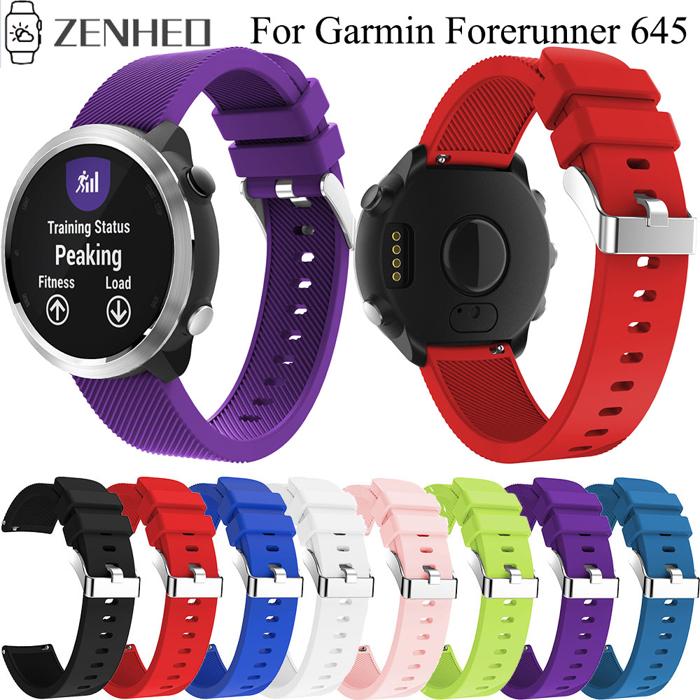 20mm Silicone Strap For Garmin Forerunner 645 Quick Release Band For Samsung Galaxy Watch Active/Gear S2/Galaxy 42mm Bracelet