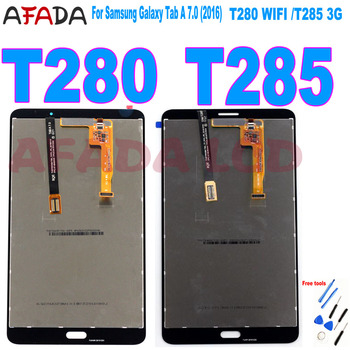 AAA+ 7 For Samsung Galaxy Tab A 7.0 (2016) SM-T280 SM-T285 T280 T285 LCD Display Touch Screen Digitizer Assembly Screen Replace for samsung galaxy tab a 7 0 t280 sm t280 t280n t285 high quality ultra slim silk 3 fold transparent cover stand pu leather case