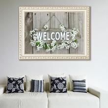 5D DIY Diamond Painting Welcome Rhinestone Paintings Cross Stitch English alphabet bedroom cross stitch