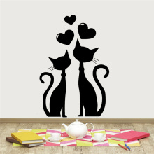 Decortion Of Love cat Vinyl Wallpaper Roll Furniture Decorative Living Room For Children Room Vinyl Art Sticker Decals
