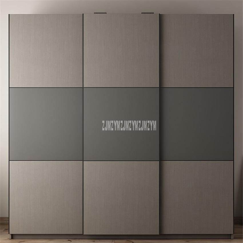 BK-W01 2m x 2m Style moderne armoire 3 porte latérale Design Louis mode Simple bois rangement combinaison armoire Simple Installation
