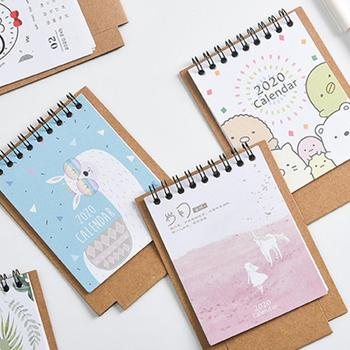 2020 New Year Kawaii Cartoon Table Calendar Mini Table Desk Calendar Agenda Organizer Planner Book 2020 Calendar 1