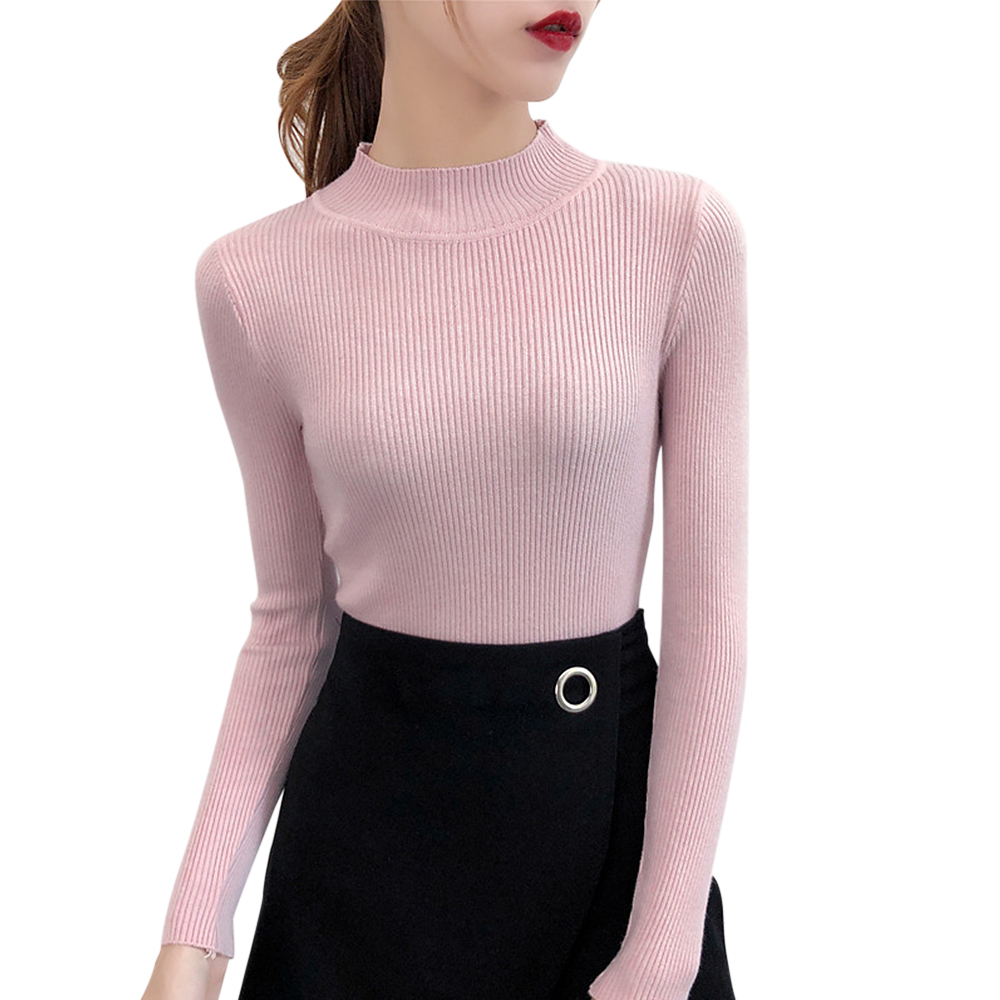 LASPERAL 2019 New-coming Autumn Winter Turtleneck Pullovers Sweater Primer Shirt Long Sleeve Short Korean Slim-fit Tight Sweater