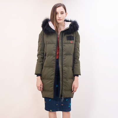 90% Duck Dowm Jacket Female Long Parkas 2020 New Natural Raccoon Fur Overcoat Letter Abrigos Mujer Invierno LX1017