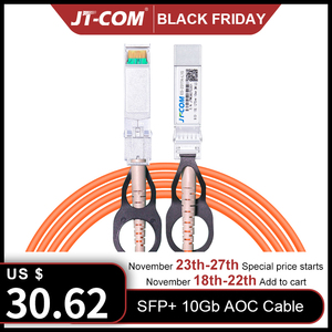 Image 1 - 1m/3m/5m/10m/30m SFP + 10Gb AOC SFP 모듈 10G 30 미터 액티브 광 케이블 Cisco 네트워크 스위치와 호환 무료 배송