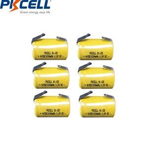 Image 4 - 2/6/8/12PCS PKCELL 4/5SC 1200mAh 1.2V Ni CD Ricaricabile batteria 4/5 SC Sub C batterie con linguette di saldatura per utensili elettrici