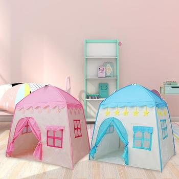 Oxford Cloth + Fiberglass Rod Small Indoor Girl Pink Princess Toy House Boy Play House Small House Children Tent Package