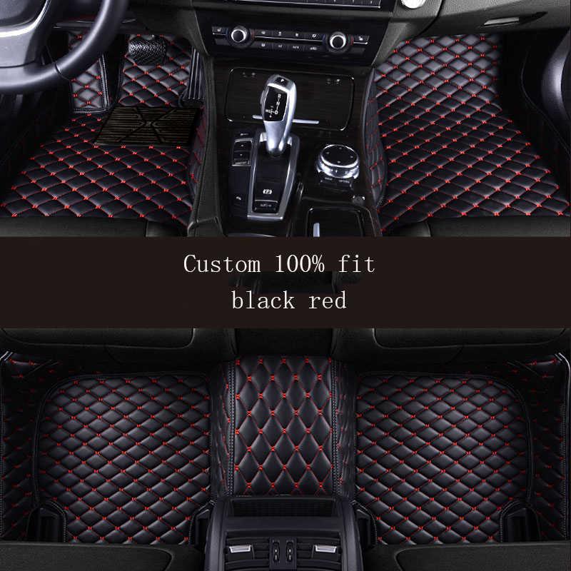 HLFNTF auto 車のフロアマットルノーラグナ 3 kadjar captur 風光明媚な 3 logan サンデロ防水カーアクセサリー