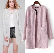 2019 New Autumn Sweater Fashion Womens Solid Color Long Sleeve Top Casual Cardigan Coat Pocket Loose