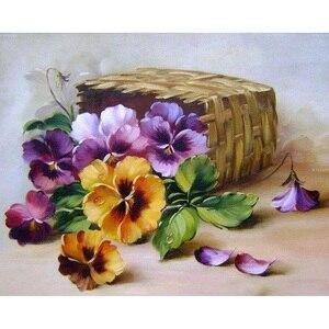 Diy kryształ rhinestone 5d diamentowa malowanie fioletowy z kwiatowym haftem ściegiem krzyżykowym Home Decor prezent w pełni z okrągłych wiertarek nowości