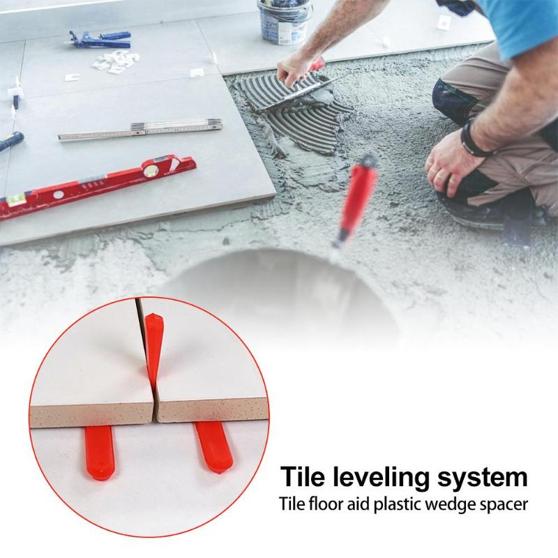 100pcs Set Mini Level Wedges Tile Spacers For Flooring Wall Tile Leveling Device Mainly Use For Laying Wall Tiles Paving Tile