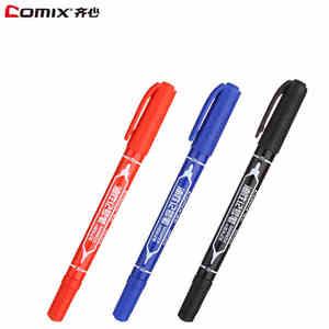 12 шт. COMIX MK804 маленькая двухголовая масляная ручка с перманентными чернилами черного, красного, синего цвета