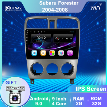 OKNAVI Android 9.0 Car Radio Multimedia Video Player Navigation GPS For Subaru Forester 2004 2005 2006 2008 2 din Auto no dvd