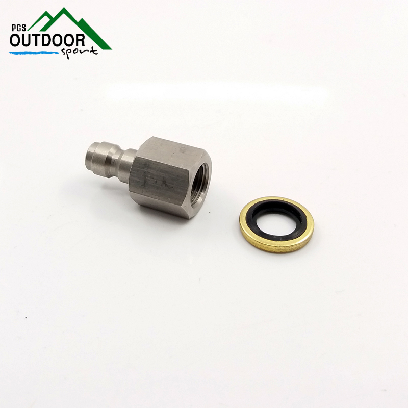 Paintball PCP Air Gun Rifle  Stiainless 8mm Filling Charging Hose Quick Release Disconnect Coupler 1/8 BSP Male Plug