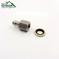 Paintball PCP fusil à Air comprimé Stiainless 8mm remplissage tuyau de charge dégagement rapide déconnexion coupleur 1/8 BSP prise mâle
