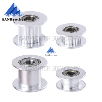 GT2 Idler Timing Pulley 16-tooth 20-Teeth with 3mm or 5mm Bore with Bearings for 3D Printer Parts Timing Belt 6mm 10mm gt2 timing belt pulley 6mm bandwidth gt2 16 tooth 20 teeth bore 5mm 6mm 6 35mm 8mm inner hole diameter pulley 3d printer parts