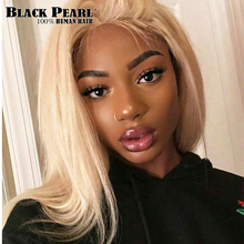 Black Pearl 150% Density 613 Honey Blonde 13x6 Lace Front Wig Pre Plucked With Baby Hair India Remy Straight Human Hair Wigs